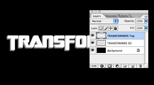 Tipografía de Transformers