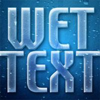 Wet Window Text Effect