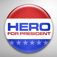Political Campaign Button