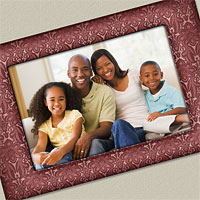 Festive Photo Frame with Embossed Texture