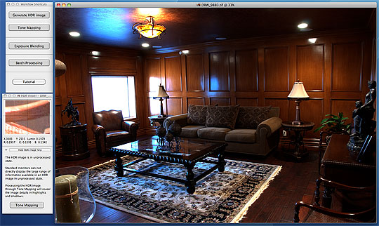 The initial Photmatix Pro HDR Image processing interface