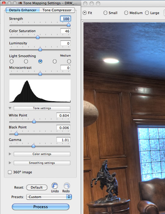 Adjusting the Details Enhancer for our image