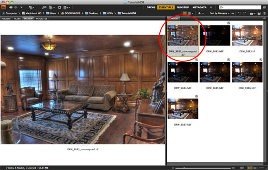 Back to Adobe Bridge