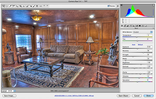 My basic Adobe Camera Raw Adjustments