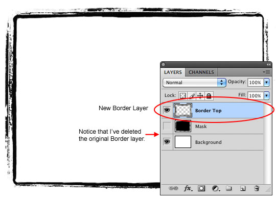 Create the Photo Border layer