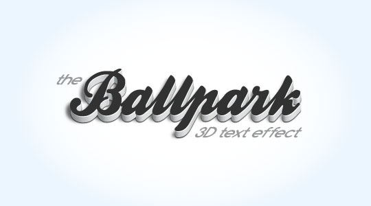 The final 3D Text Effect